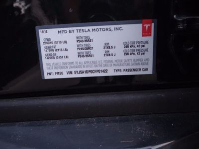 2012 Tesla Model S Signature Performance